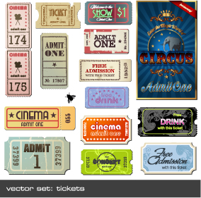 free vector Vector foreign nostalgic movie ticket