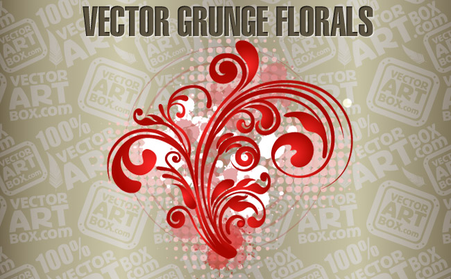 free vector Vector Free Grunge Florals
