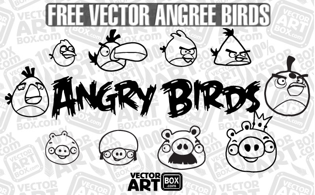 free vector Vector Free Sketch Angry Birds