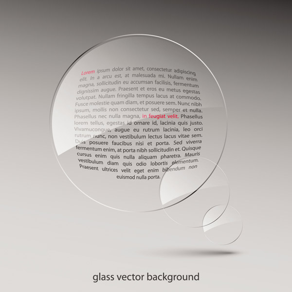 free vector Vector glass lens effect