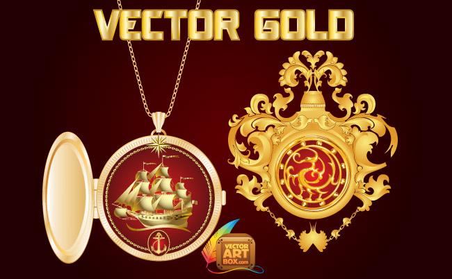 free vector Vector Gold Design