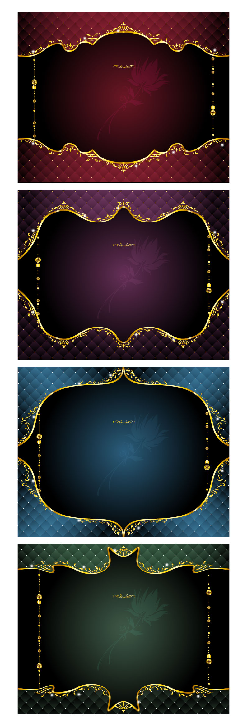 free vector Vector gold ornate lace 6190