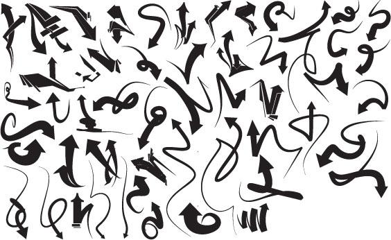 free vector Vector Graffiti Arrows