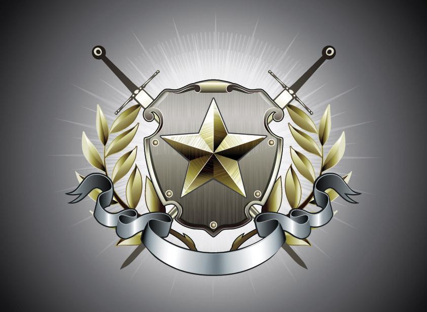 free vector Vector graphics european badge