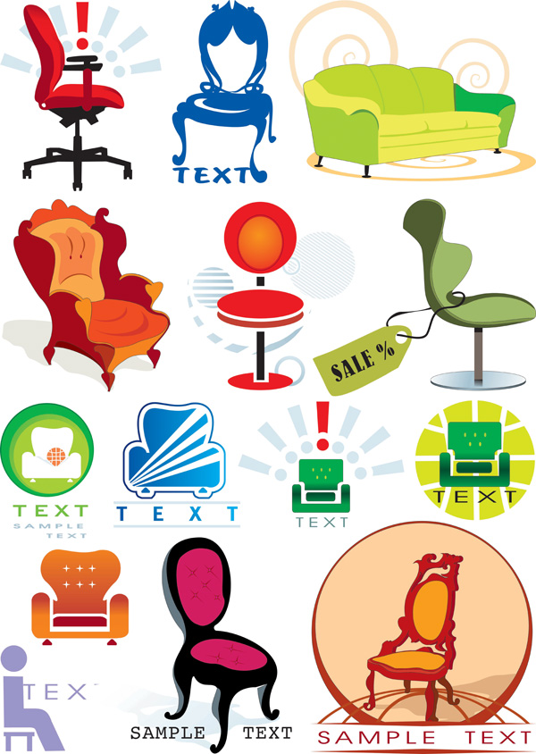 free vector Vector graphics theme chair