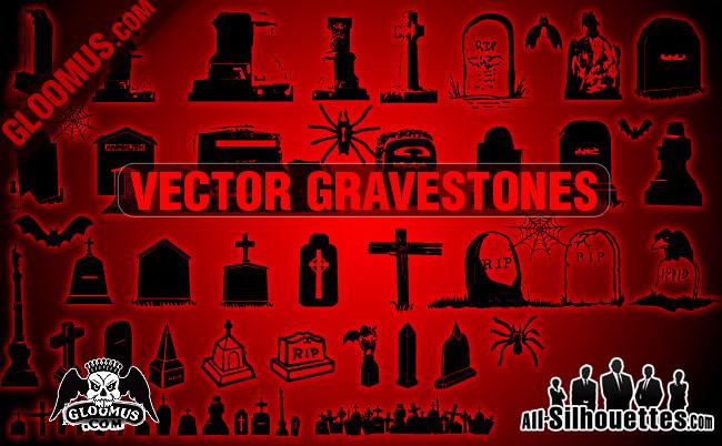 free vector Vector Gravestones