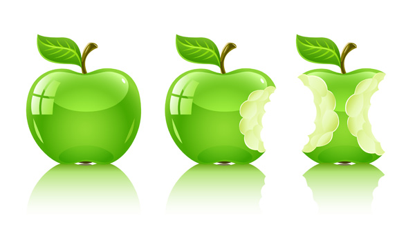 free vector Vector green apple