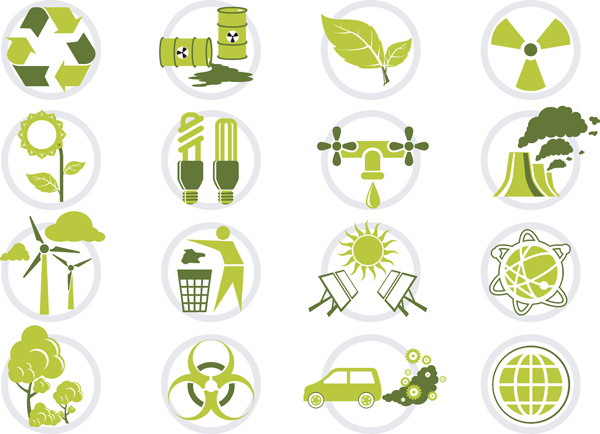 free vector Vector green icon set