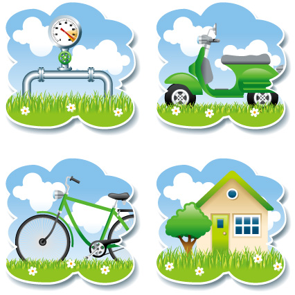 free vector Vector green living