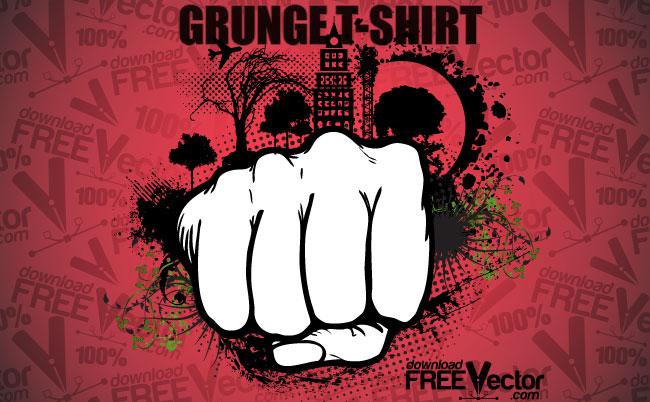free vector Vector Grunge T-shirt