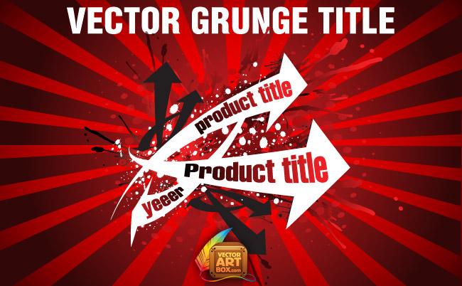 free vector Vector Grunge Title