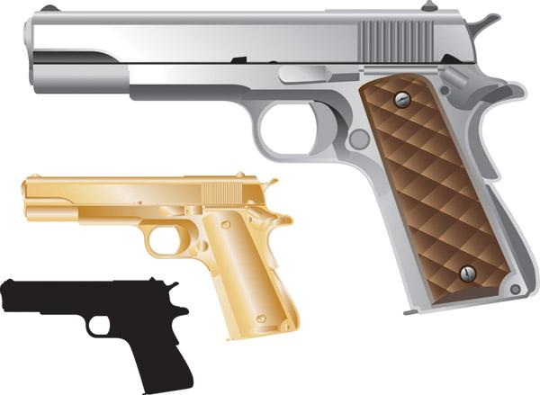 free vector Vector guns and ammunition