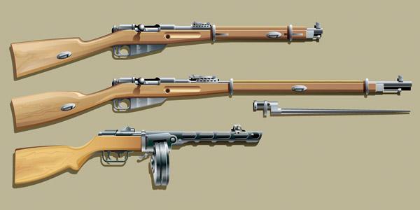 free vector Vector guns