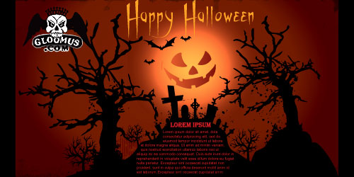 free vector Vector Halloween Template