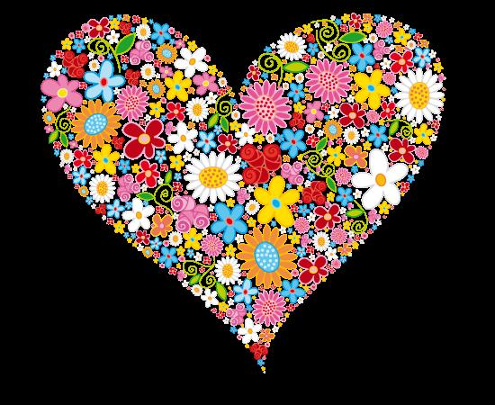 free vector Vector HEART Flowers