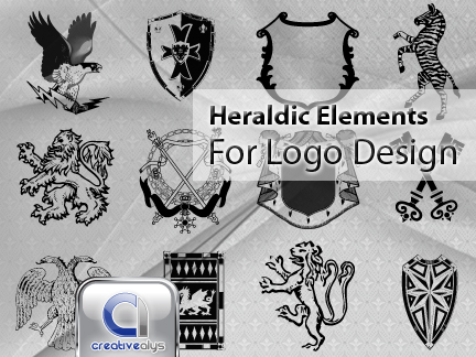free vector Vector Heraldic Elements for Logo Design