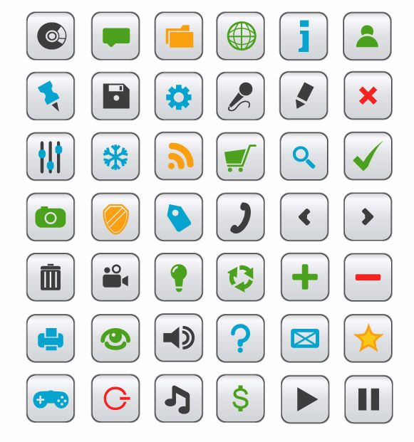 free vector Vector Icon Collection for Web design