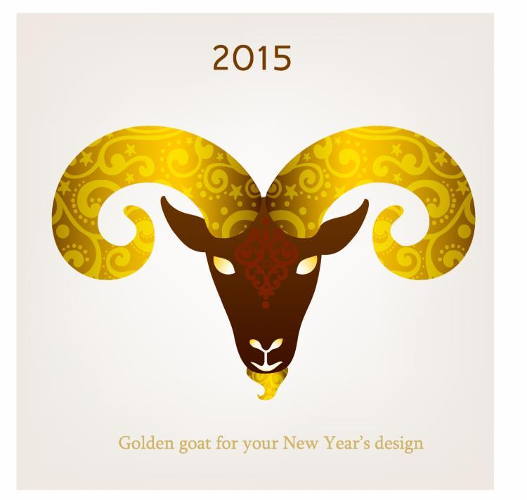 free vector Vector illustration of goat, symbol of 2015.