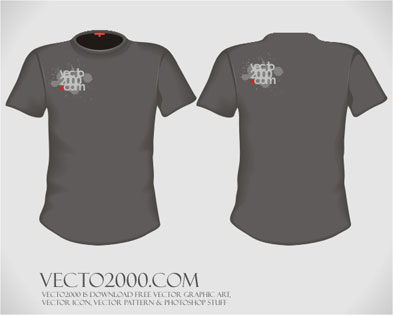 free vector Vector illustration: T-shirt design template (for men)
