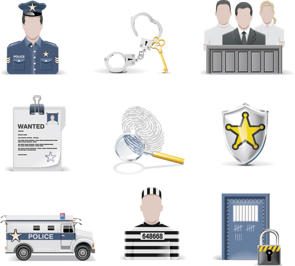 free vector Vector justice and crime
