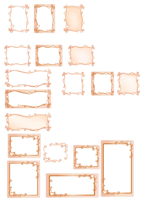 free vector Vector lace material Series-1