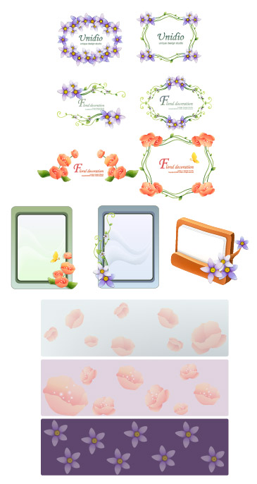 free vector Vector lace material Series-2
