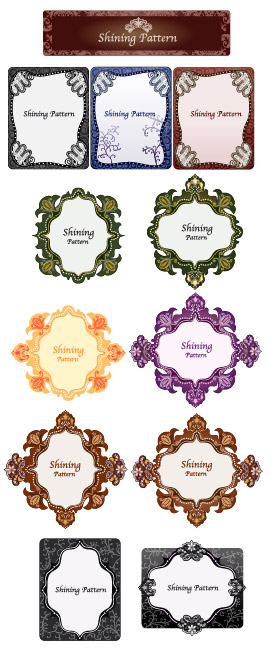 free vector Vector lace material Series-3