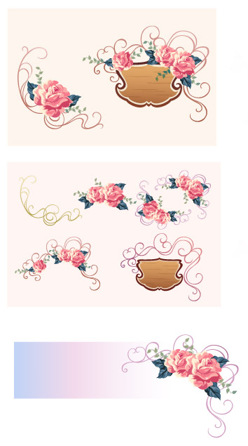 free vector Vector lace material Series-7
