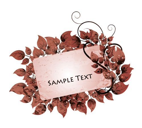 free vector Vector lace pattern cards