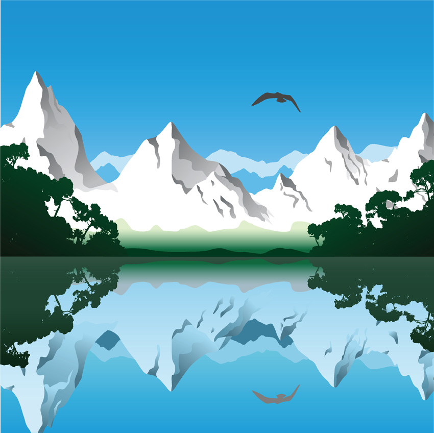 free vector Vector lake