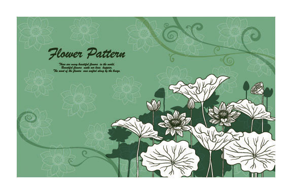 free vector Vector line drawing beautiful flowers plant 1
