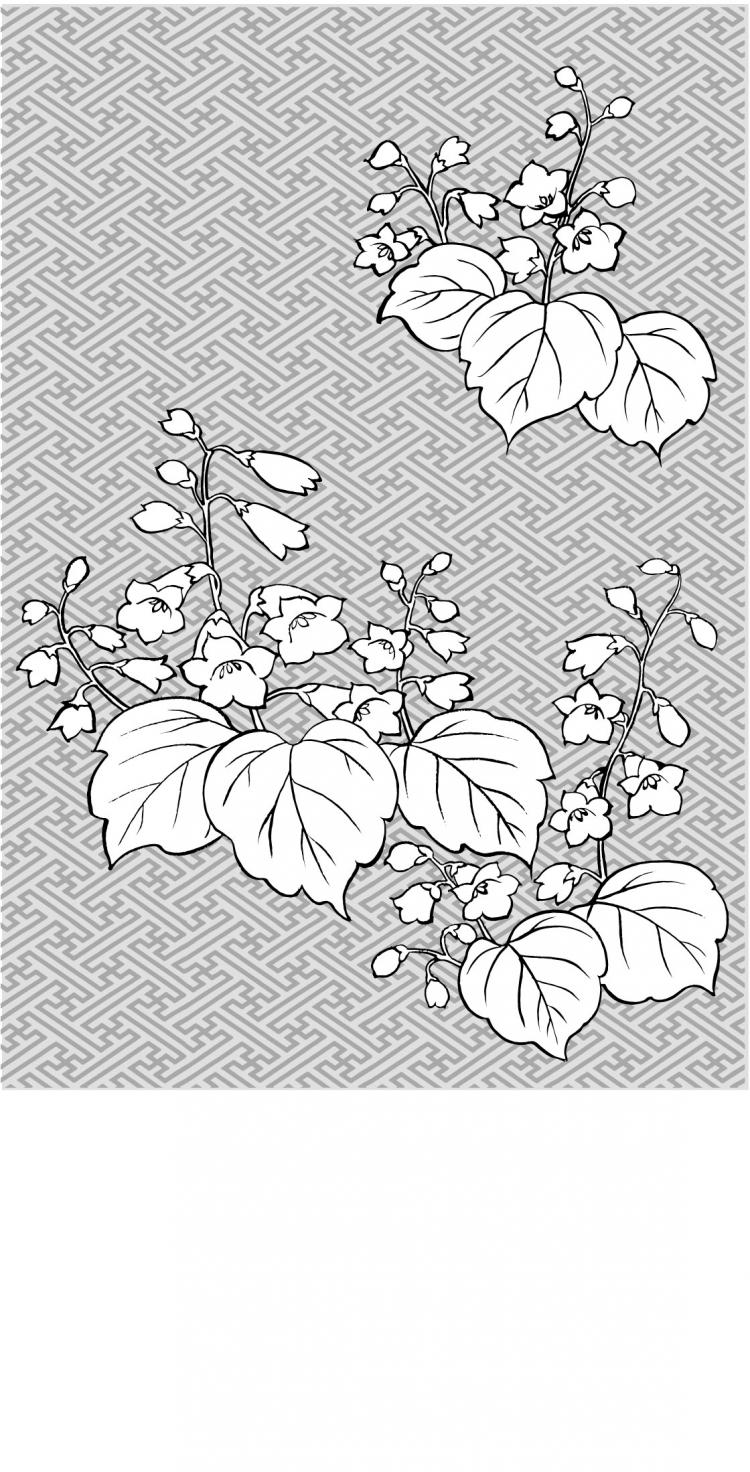 free vector Vector line drawing of flowers-29
