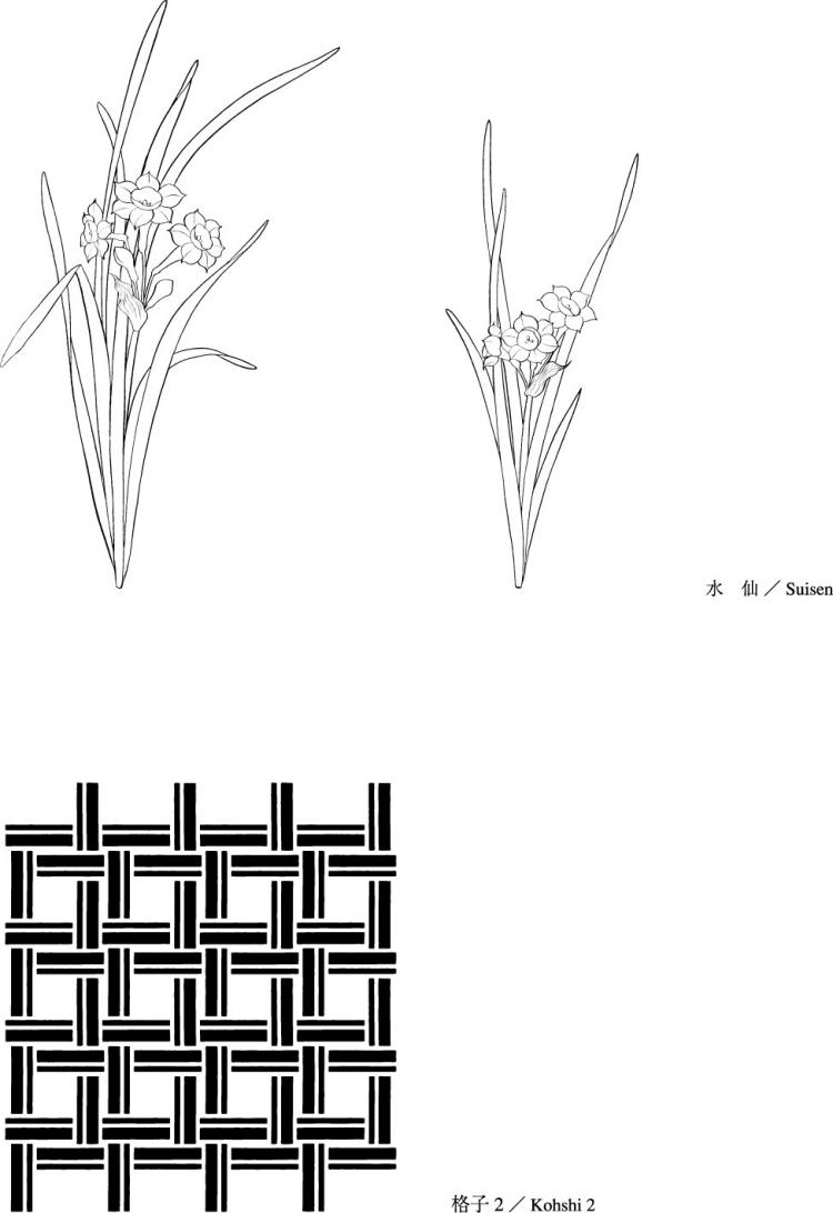 free vector Vector line drawing of flowers-48(Flowers and grass)