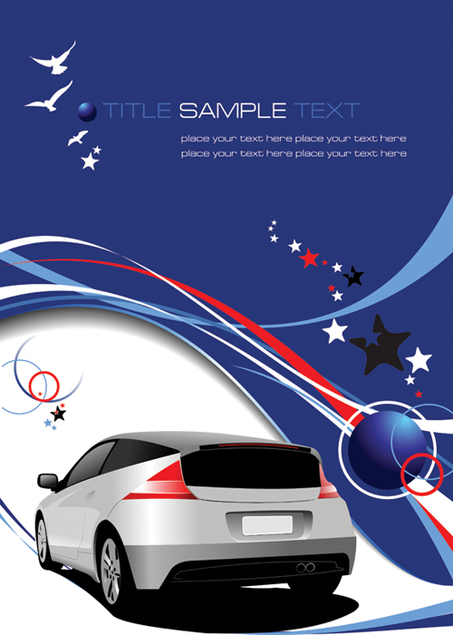 free vector Vector lines and dynamic vehicle