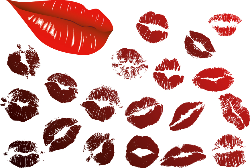 free vector Vector Lip prints