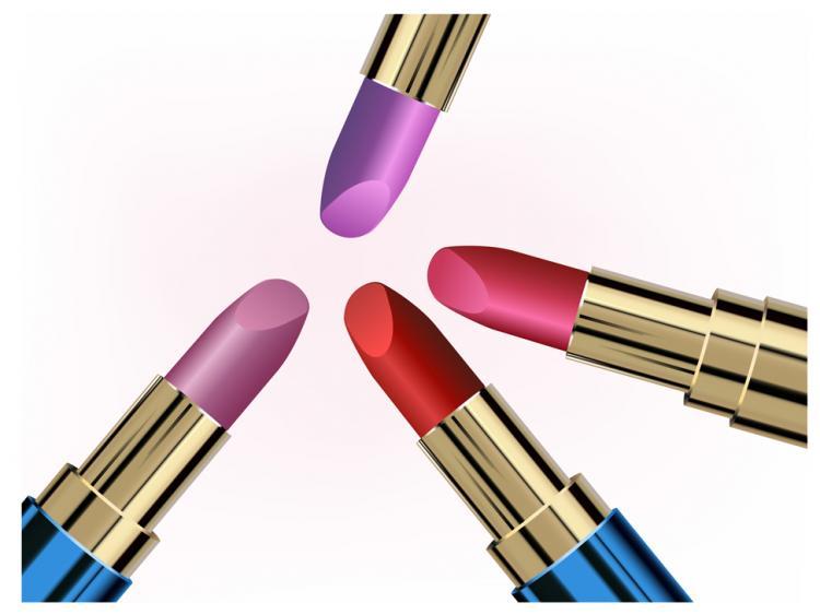 free vector Vector lipstick texture material