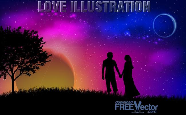 free vector Vector Love Illustration