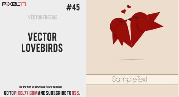 free vector Vector lovebirds