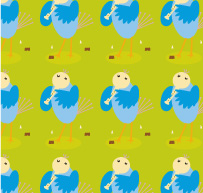 free vector Vector lovely cartoon tiled background material-1