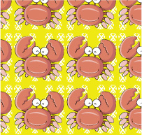 free vector Vector lovely cartoon tiled background material-2