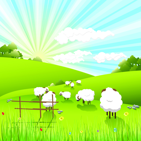 Lovely Countryside Farm 93114 Free Eps Download 4 Vector