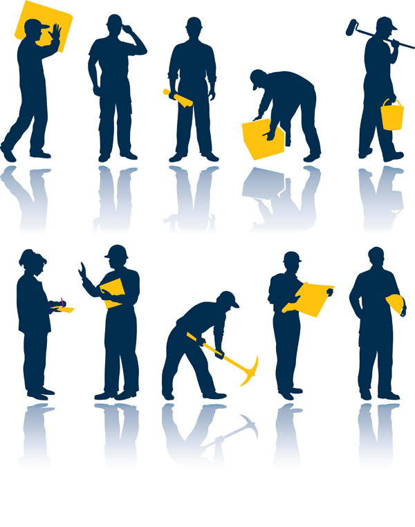 free vector Vector maintenance workers