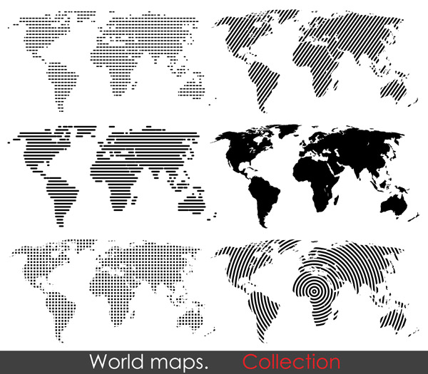 free vector Vector map of the world change the archive