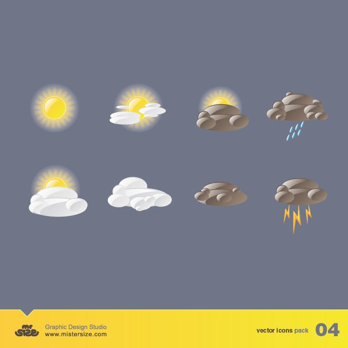 free vector Vector material changes in the weather