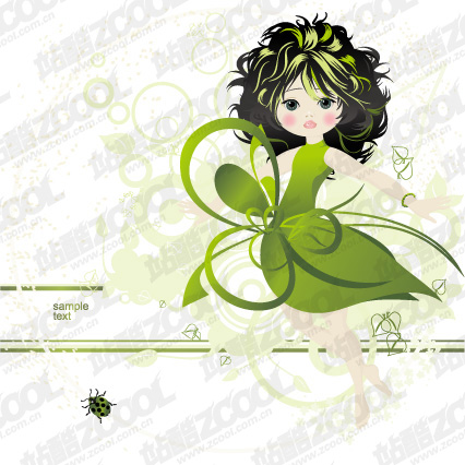 free vector Vector material lovely illustrations of children 4