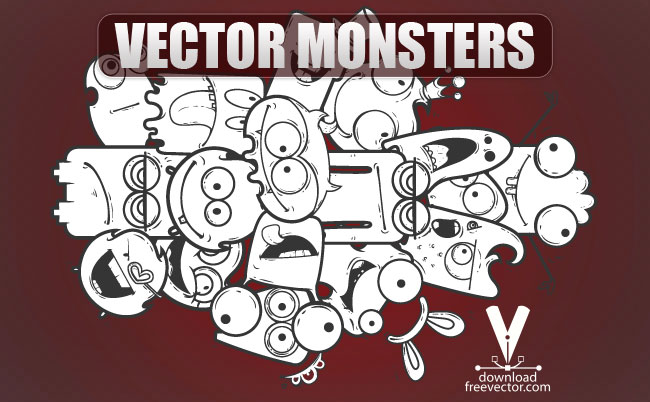 free vector Vector Monsters