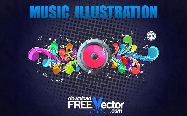 free vector Vector Music Illustration