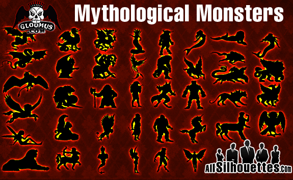 free vector Vector Mythological Monsters