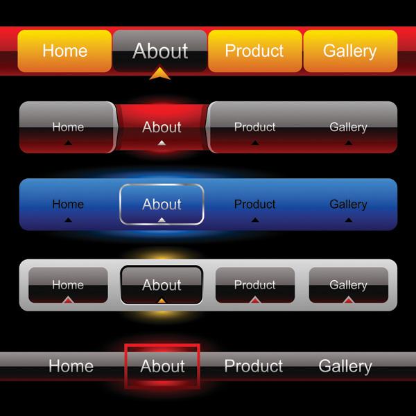 Vector Navigation Bar Button Free Vector 4vector