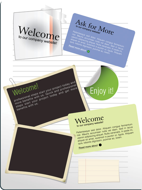free vector Vector notes u0026amp stickers